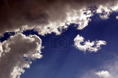 Weird blue sky background