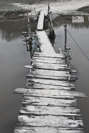 Lonely wooden pier