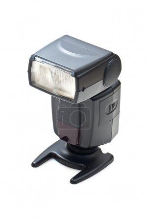 Camera flash light isolated on white background
