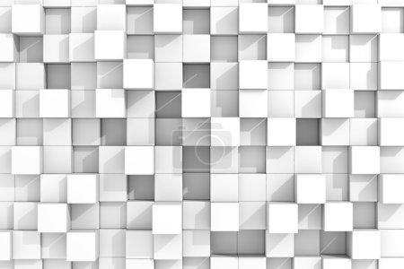 Photo pour Fond cubes blancs. Image générée par ordinateur . - image libre de droit