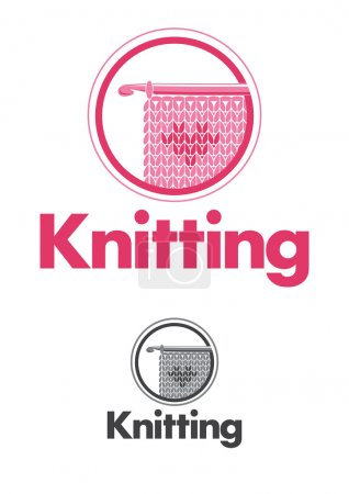 Illustration for Knitting logo - Royalty Free Image