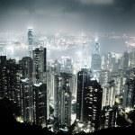 Hong Kong island from Victoria's Peak at night...