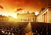 Saint Peter's Square in sunset time