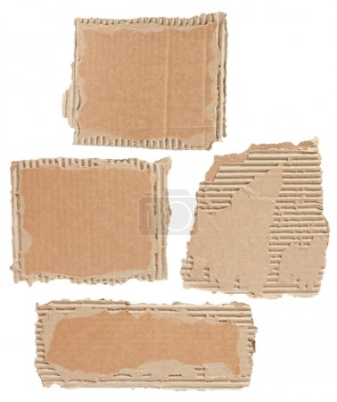 Photo for Collection of a cardboard pieces on white background - Royalty Free Image