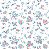 Doodle Valentine's day lovely seamless texture
