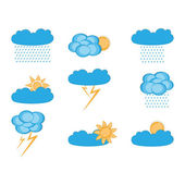 Vector clouds collection Weather icon for design