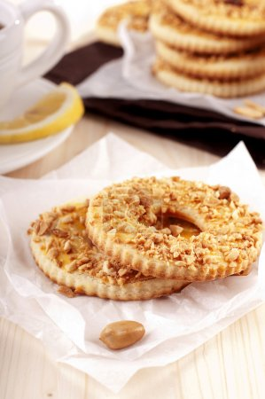 Photo for Homemade cookies of Shortcrust pastry with peanut - Royalty Free Image