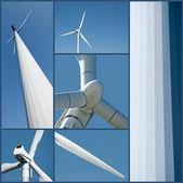 Koláž Větrná turbína