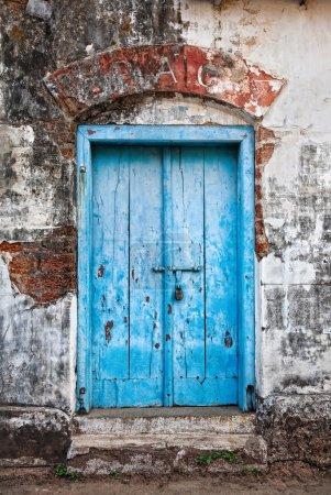 Vintage blue door