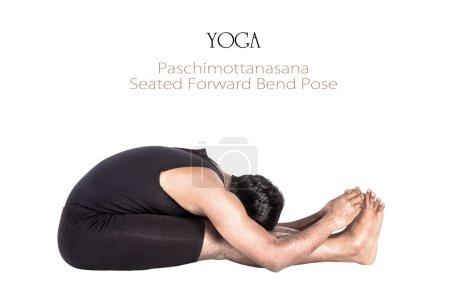Yoga paschimottanasana pose