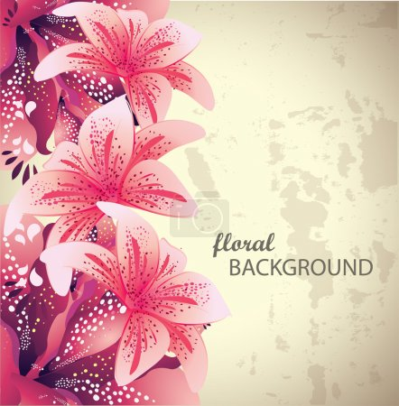 Illustration for Vector Floral Background - Royalty Free Image