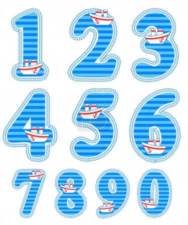 Baby boy numeral set