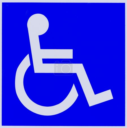 Handicapped sign.