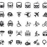 Set of vector transportation icon...
