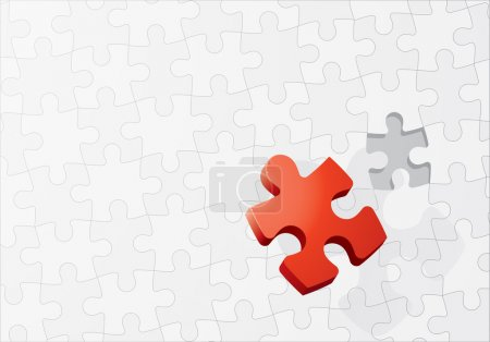 Illustration for Stand out in a crowd, vector puzzle concept - Royalty Free Image