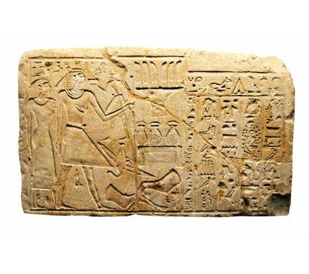 Photo pour Écriture égyptienne ancienne sur pierre en Egypte - image libre de droit