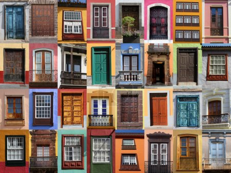 Photo for Colorful living - doors and windows of Spain - Royalty Free Image