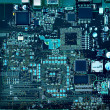 Inside computer, hardware motherboard components a...