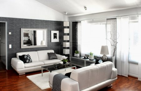 Photo for Modern living room interior furniture and decoration - Royalty Free Image