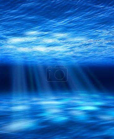 Light beams underwater