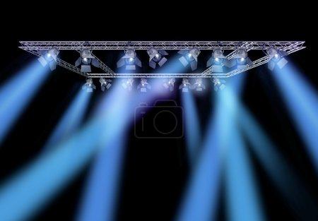 Rock stage lighting