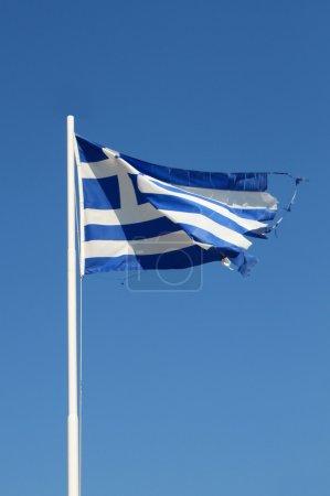 Ragged Greek flag