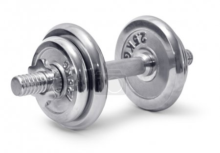 Chromed dumbbell