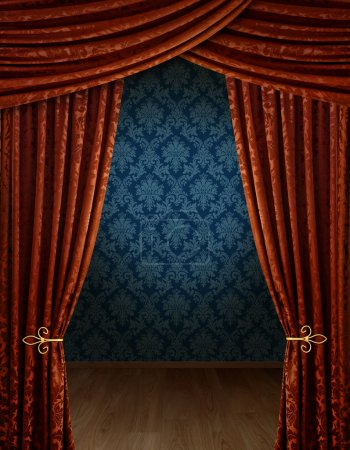 Grand opening curtains