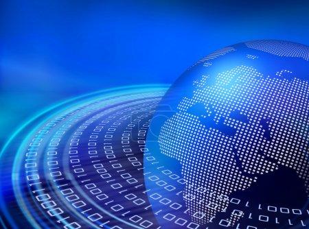 Digital blue data orbits