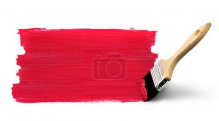 Pintura pincel rojo