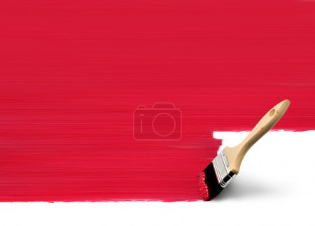 Paintbrush painting red area