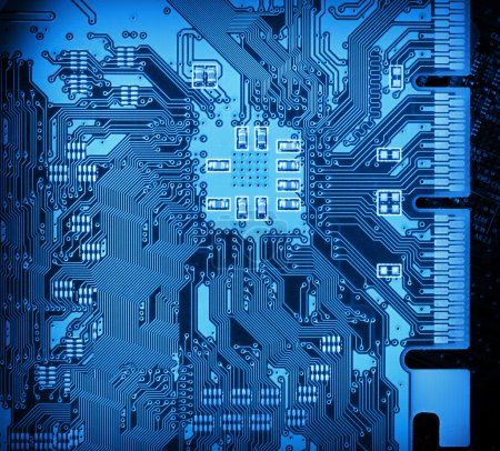 Photo for Computer circuit board closeup background - Royalty Free Image