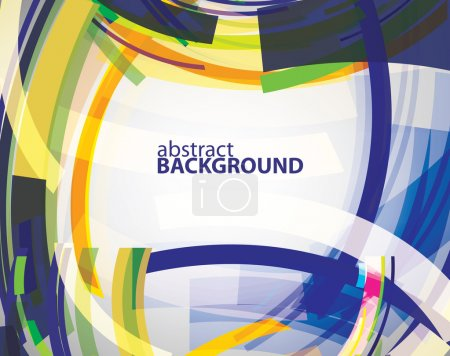 Illustration for Vector modern color abstraction background - Royalty Free Image