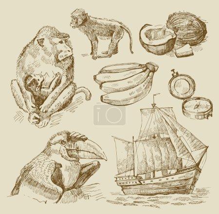 Illustration for Vector original hand drawn illustration - Royalty Free Image