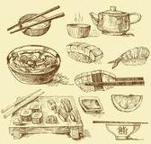 Japanese food-original hand drawn collection