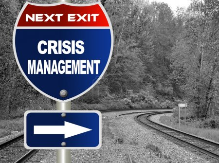 Photo for Crisis management road sign - Royalty Free Image