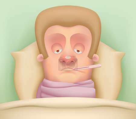 Sick Cartoon Character