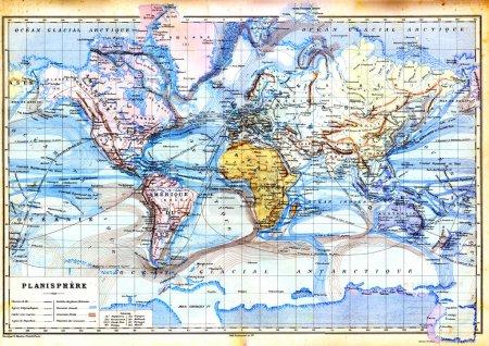 Старая карта планисферы