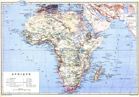 The planispheric map of Africa