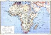 Planispheric mapa Afriky