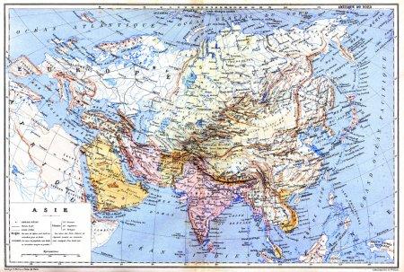 die Landkarte von Asien