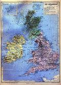 Mapa britských ostrovů