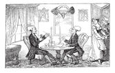 Dr Syntax and his counterpart vintage engraving
