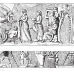 Development of Vase of Mantua, vintage engraved il...