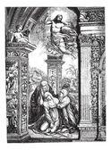 """Постер, картина, фотообои """"фрески в церкви Сан Доменико в Сиене, по Razzi (jumpe"""""""