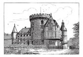 Chateau of Rambouillet vintage engraving