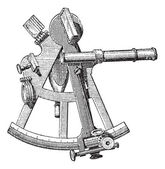 Sextant isolated on white vintage engraving