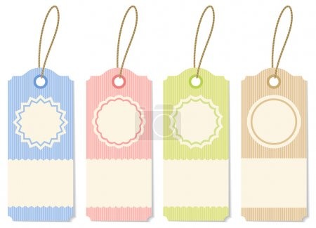 Illustration for Illustration striped labels of different colors - Royalty Free Image