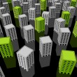 Green ecological apartment houses/office buildings...