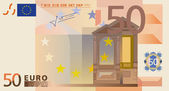 Photo-real vector drawing of a 50 euros banknote